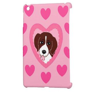 ビーグル犬愛ハートのピンクのiPadの場合 iPad Mini カバー