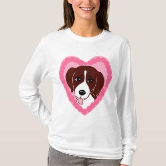 ビーグル犬愛女性のHanesのNano長袖のTシャツ Tシャツ