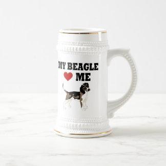 ビーグル犬愛 ビールジョッキ