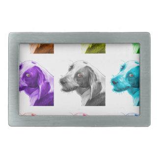 ビーグル犬犬のポップアート6896 wb 長方形ベルトバックル