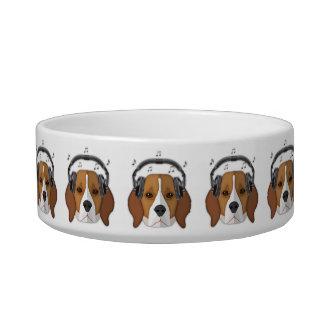 ビーグル犬犬のポップアート、中型のペットボウル ボウル
