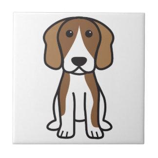ビーグル犬犬の漫画 タイル