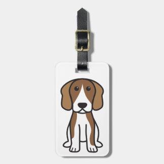 ビーグル犬犬の漫画 ラゲッジタグ
