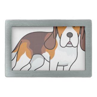 ビーグル犬犬 長方形ベルトバックル