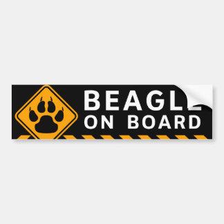 ビーグル犬船上に バンパーステッカー