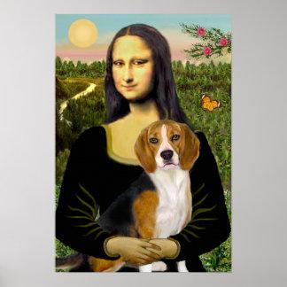 ビーグル犬7 -モナ・リザ ポスター