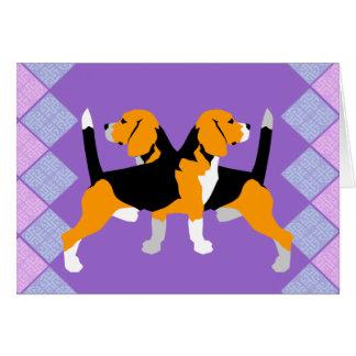 ビーグル犬 カード