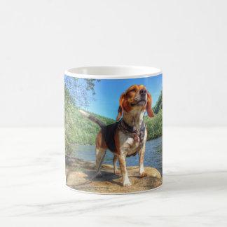ビーグル犬 -- 川に沿う愛情のある生命 コーヒーマグカップ