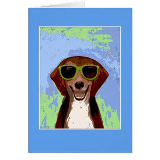 ビーグル犬-青いフレーム2 カード