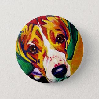 ビーグル犬#5 5.7CM 丸型バッジ