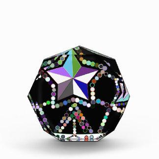 ビーズおよび星から成っているカラフルな王女の王冠 表彰盾