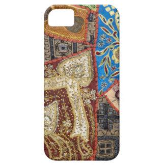 ビーズの刺繍された民族のパッチワークの織物 iPhone 5 CASE