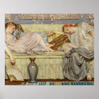 ビーズ(勉強)、c.1875 (キャンバスの油) ポスター