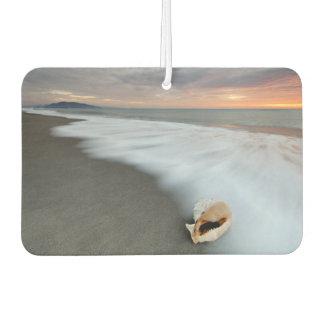 ビーチおよび貝の日の出 カーエアーフレッシュナー