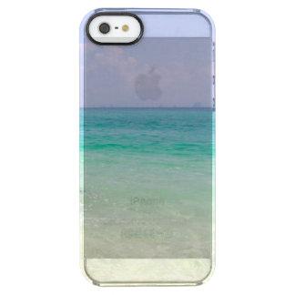 ビーチおよびoceantropical wanderlust旅行ヒップスター クリア iPhone SE/5/5sケース