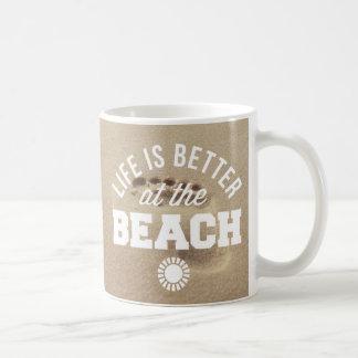ビーチでよくして下さい コーヒーマグカップ