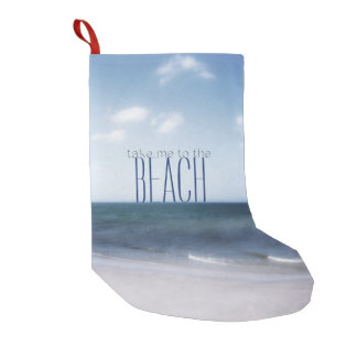 ビーチに私を連れて行って下さい スモールクリスマスストッキング