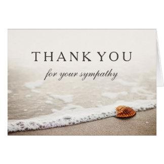ビーチのあなたの悔やみや弔慰 の貝殻をありがとう カード