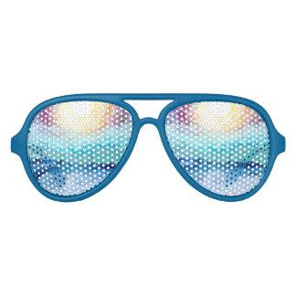 ビーチのおもしろい! 青のパーティーのサングラス アビエーターサングラス