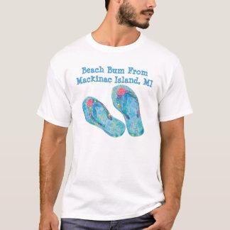 ビーチのつまらないMackinacの島MIのワイシャツ Tシャツ
