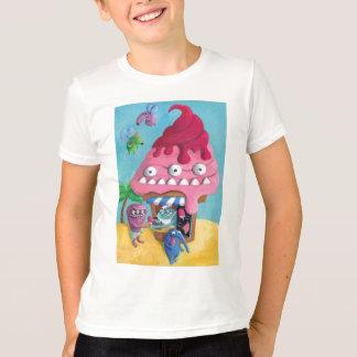ビーチのアイスクリーム Tシャツ