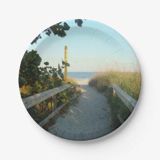 ビーチのアクセス ペーパープレート