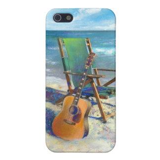 ビーチのアートワークのギターとのiPhone 5の場合 iPhone 5 Case