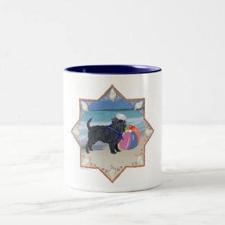 ビーチのアーフェンピンシャー ツートーンマグカップ