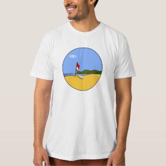 ビーチのオーガニックなTシャツの男性Shiro Tシャツ