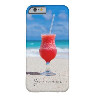 ビーチのカスタムなモノグラムの電話箱の飲み物 BARELY THERE iPhone 6 ケース
