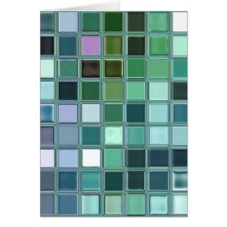 ビーチのガラスモザイク・タイルの芸術 カード
