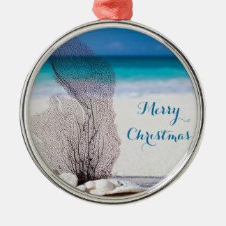 ビーチのクリスマスオーナメントの円形の金属の珊瑚 メタルオーナメント