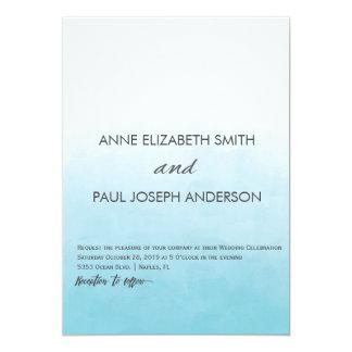 ビーチのグラデーションな結婚式招待状 カード