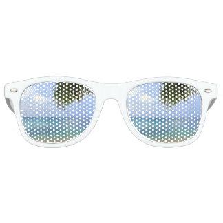 ビーチのサングラス|の水彩画のグラデーションなレトロの陰 レトロサングラス