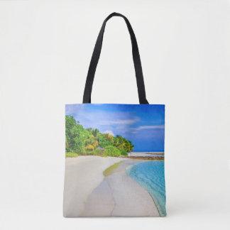 ビーチのサンディの海岸線のビーチのバッグ トートバッグ