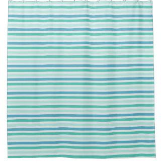 ビーチのストライプなシャワー・カーテン シャワーカーテン