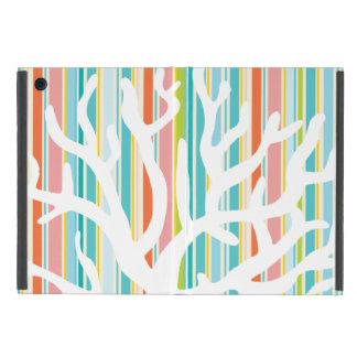 ビーチのストライプな、珊瑚のiPad Miniケース iPad Mini ケース