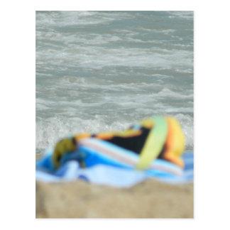 ビーチのタオル ポストカード