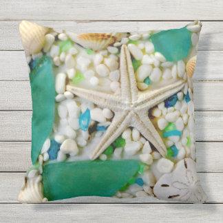 ビーチのテーマのテラスの枕 クッション