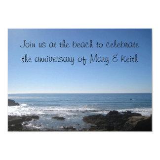 ビーチのテーマのパーティの招待状 カード