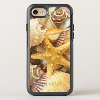 ビーチのテーマの貝殻のデザイン オッターボックスシンメトリーiPhone 8/7 ケース