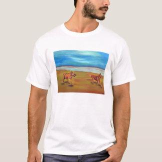 ビーチのドンおよびZoeyのランニング Tシャツ
