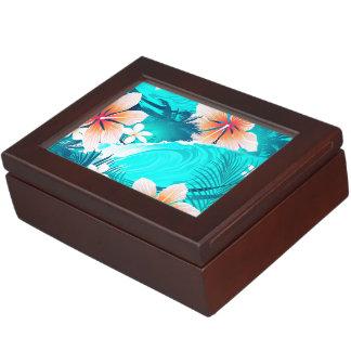 ビーチのハイビスカスの花 ジュエリーボックス