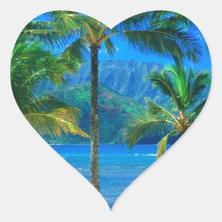 ビーチのハンモックカウアイ島ハワイ ハートシール