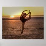 ビーチのバレエ ポスター