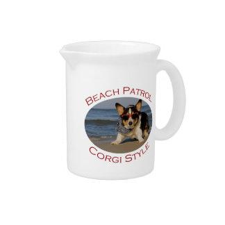ビーチのパトロール、コーギーのスタイル ピッチャー