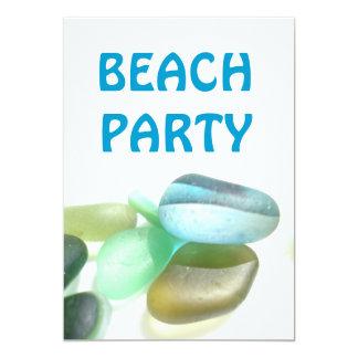 ビーチのパーティー-海ガラスのコレクション カード