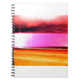 ビーチのビーチ力の嵐は美しいです ノートブック