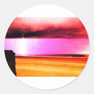 ビーチのビーチ力の嵐は美しいです ラウンドシール