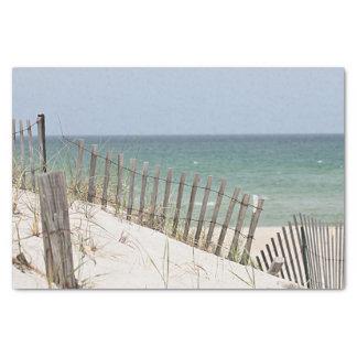 ビーチのフェンス越しにオーシャンビュー 薄葉紙